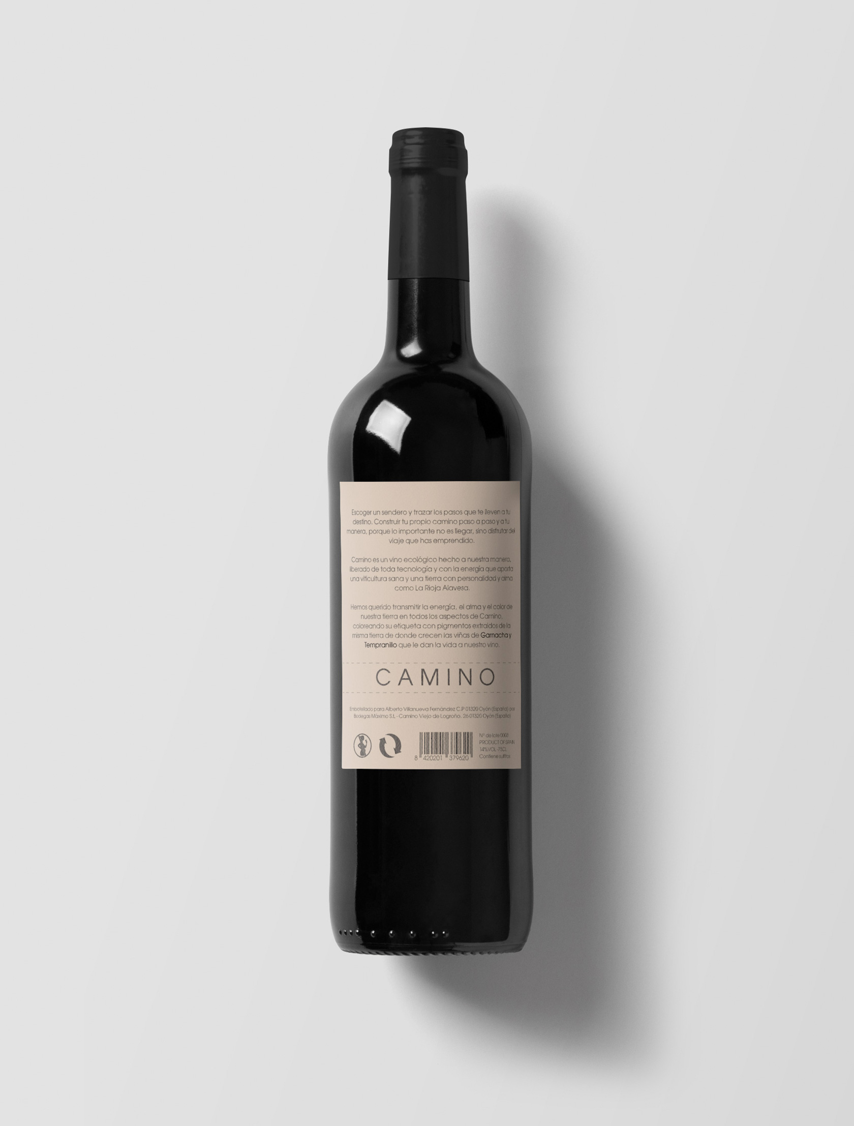 Etiqueta para vino Camino