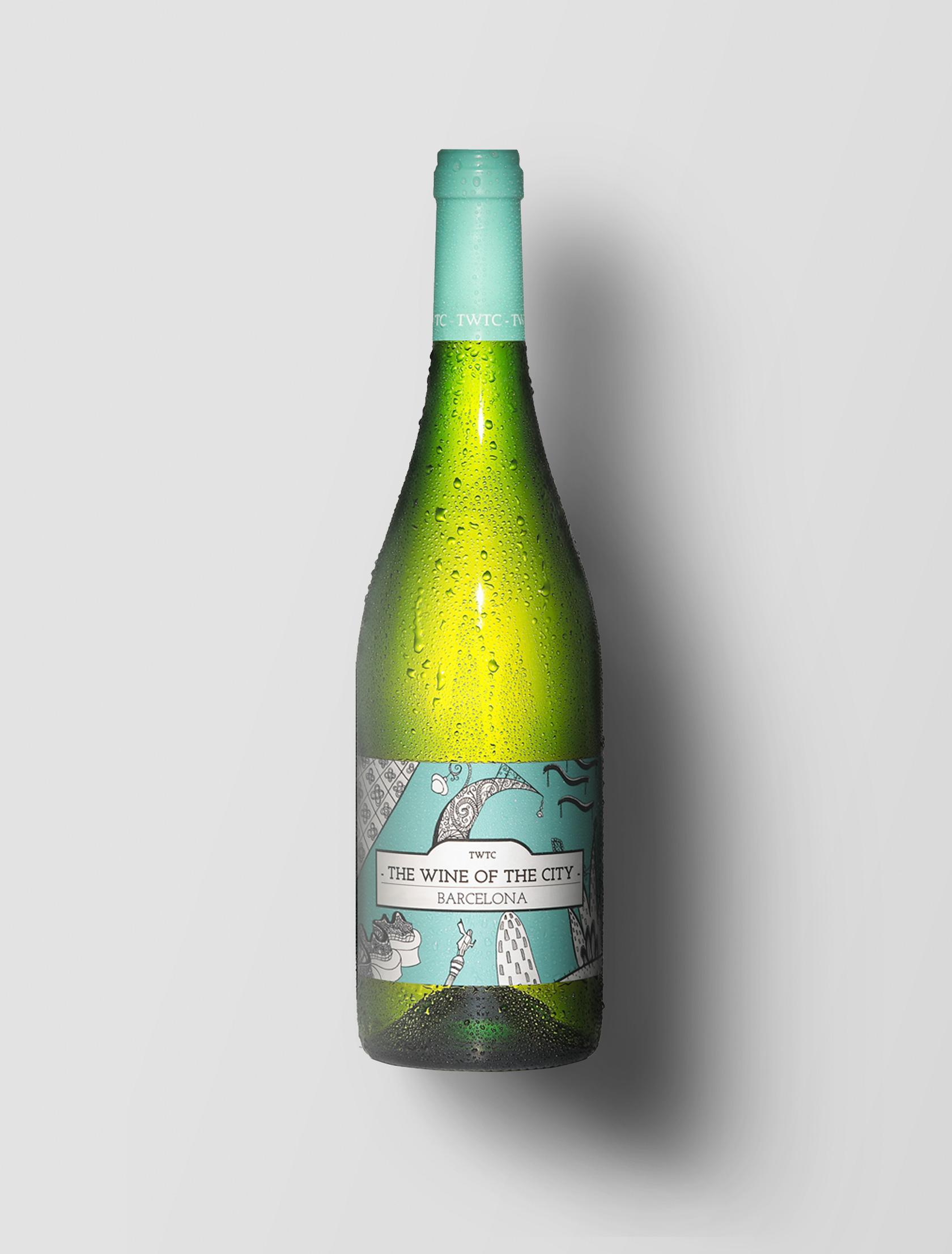 Diseño de etiquetas para vino The Wine of The City