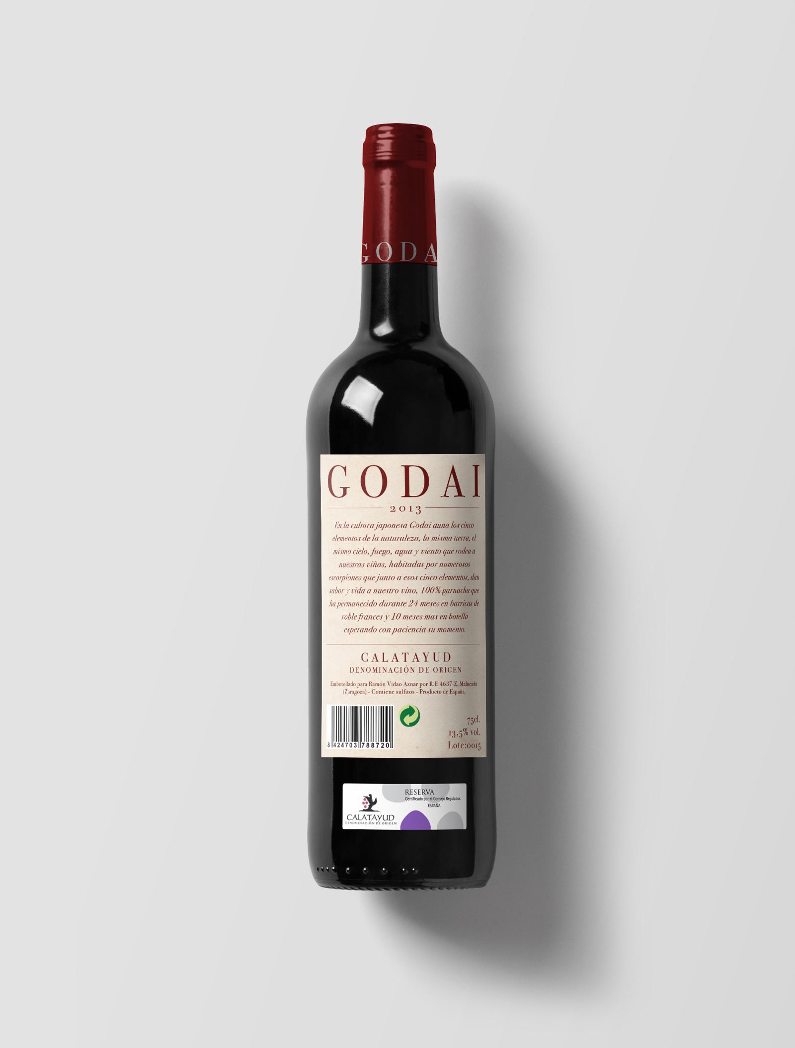Etiqueta para vino Godai