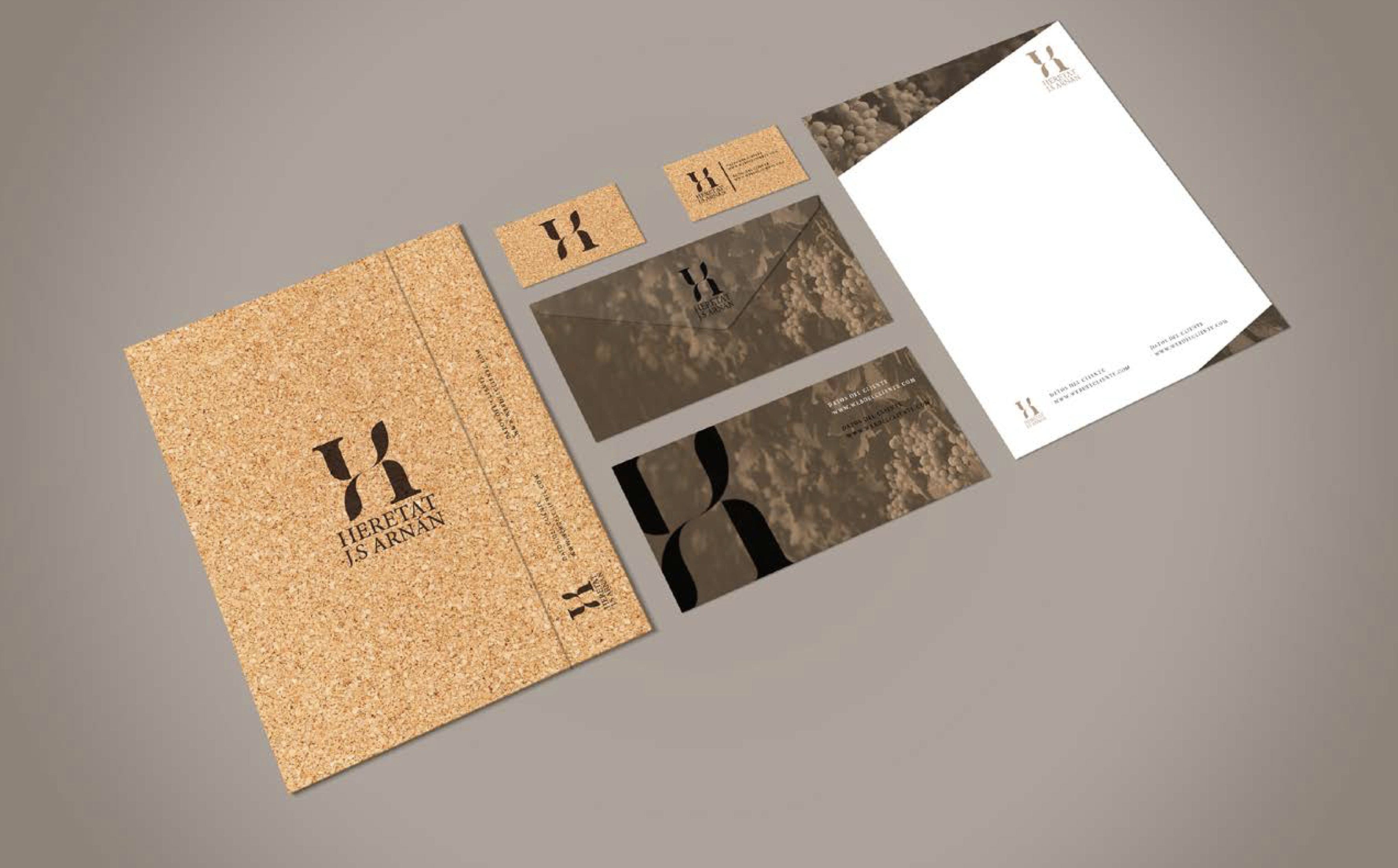Diseño de imagen de marca Heretat JS Arnan