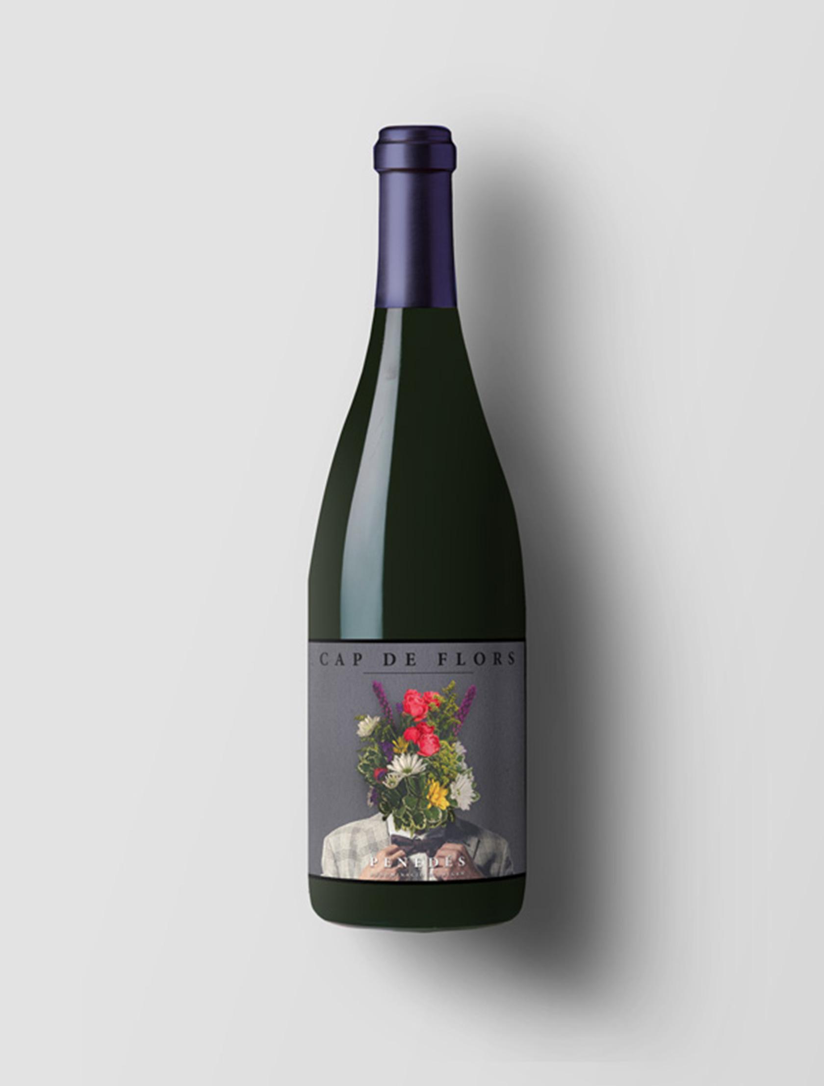 Etiqueta para vino Cap de Flors