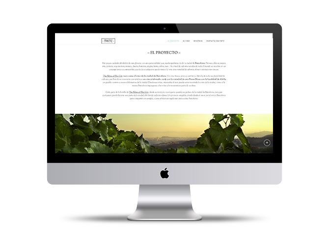 Diseño de páginas web The Wine of The City