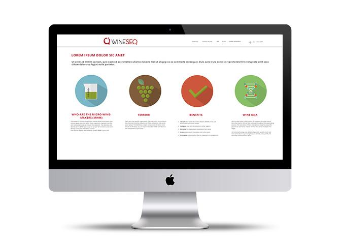 Diseño de páginas web Wineseq